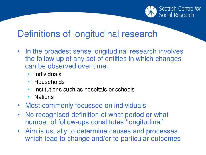 Definitions of longitudinal research
