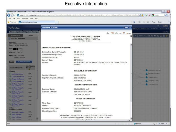 Executive Information