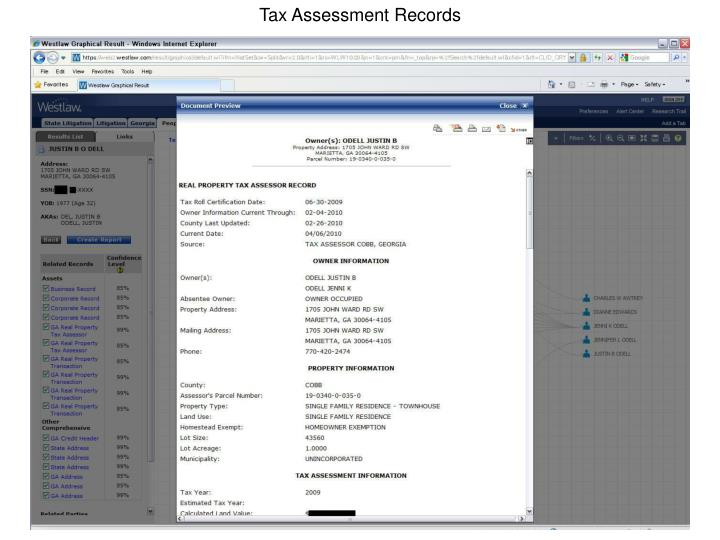 Tax Assessment Records