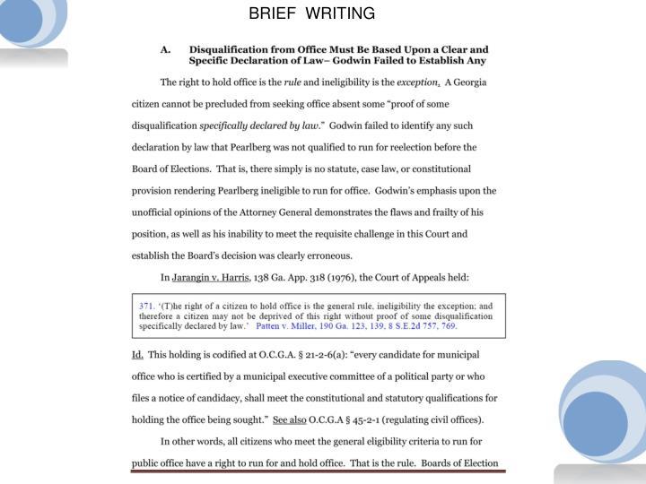BRIEF  WRITING