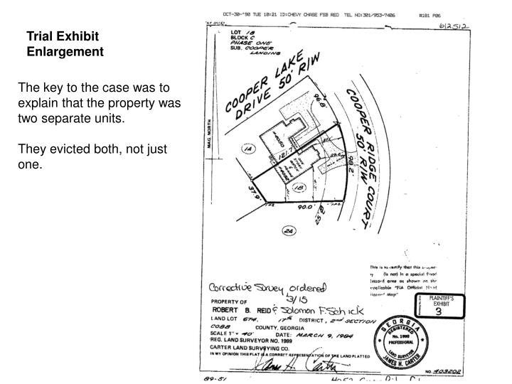 Trial Exhibit Enlargement