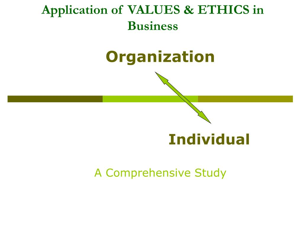 Values and ethics in business ppt