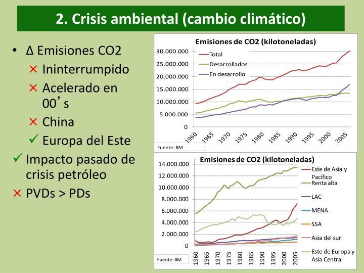 2. Crisis ambiental (cambio climático)