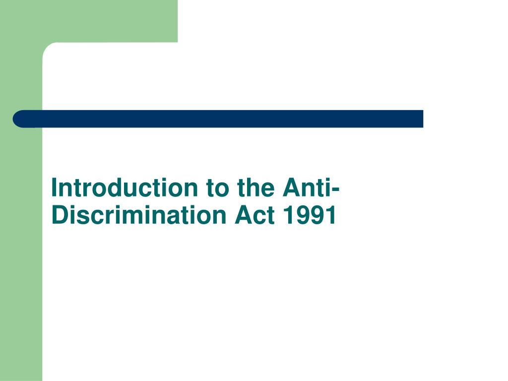 PPT - Discrimination and Independent Schools in Queensland ...