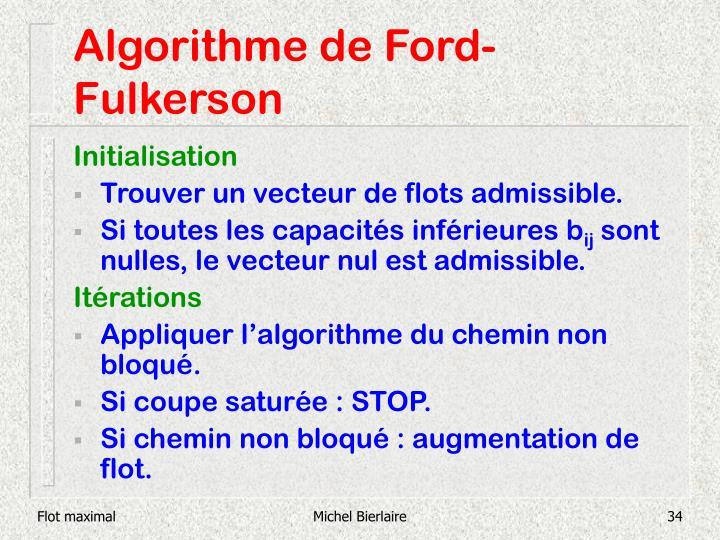 Algorithme de Ford-Fulkerson