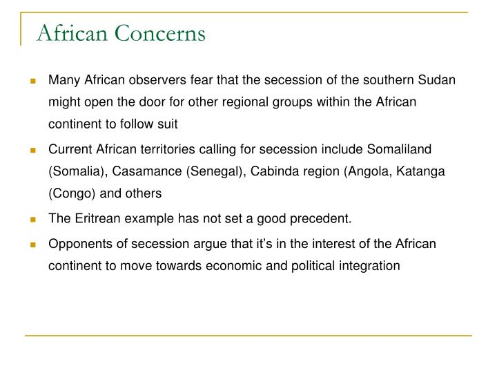 African Concerns