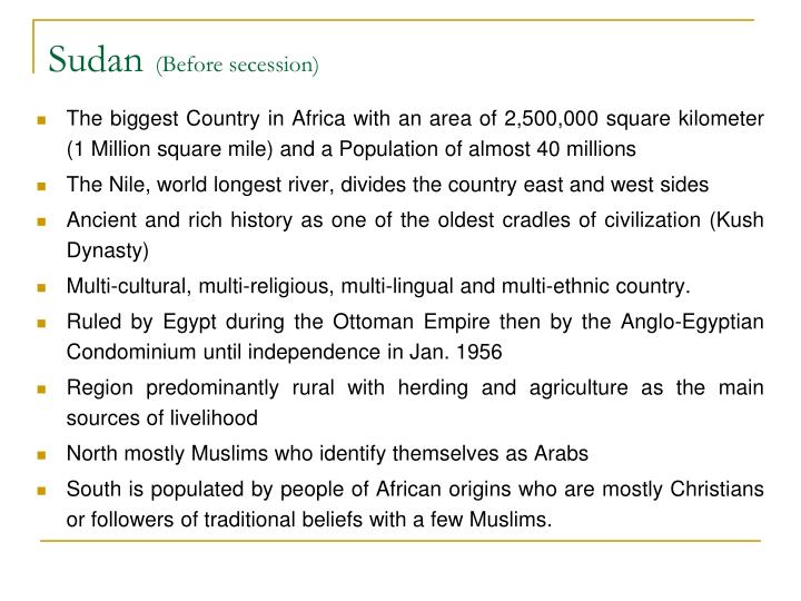 Sudan before secession