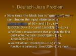 1 deutsch joza problem2