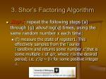 3 shor s factoring algorithm13
