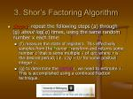 3 shor s factoring algorithm14
