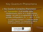 key quantum phenomena