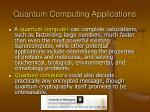 quantum computing applications
