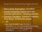 quantum computing applications1