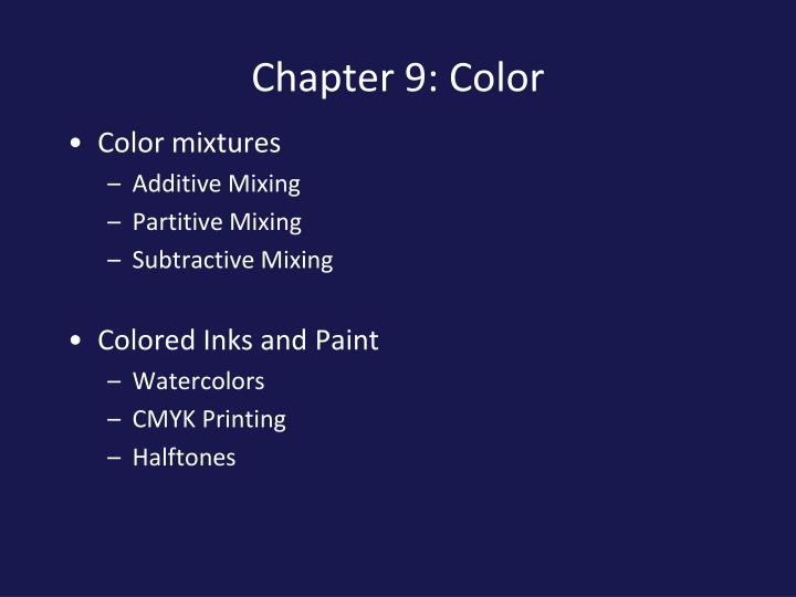 PPT Chapter 9 Color PowerPoint Presentation ID 5188755