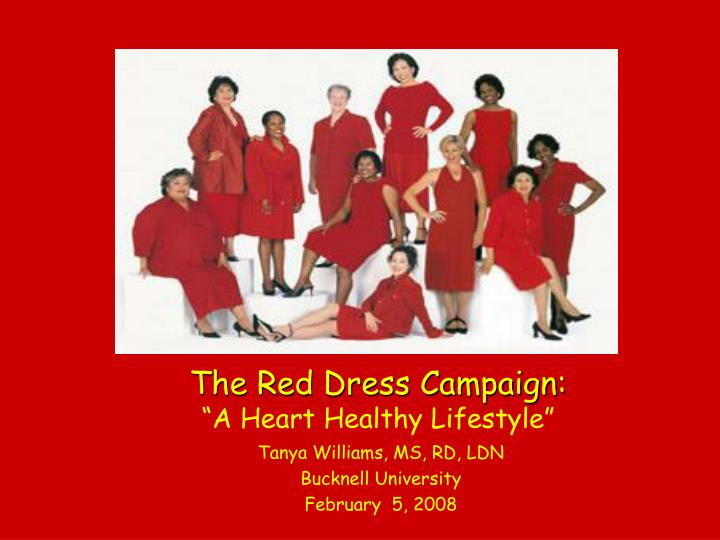 the red dress campaign a heart healthy lifestyle n.