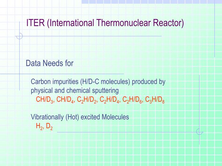ITER (International Thermonuclear Reactor)