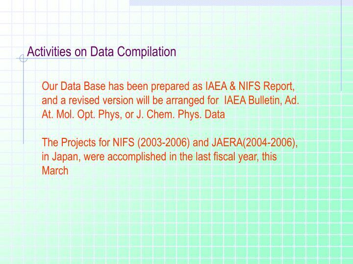Activities on Data Compilation