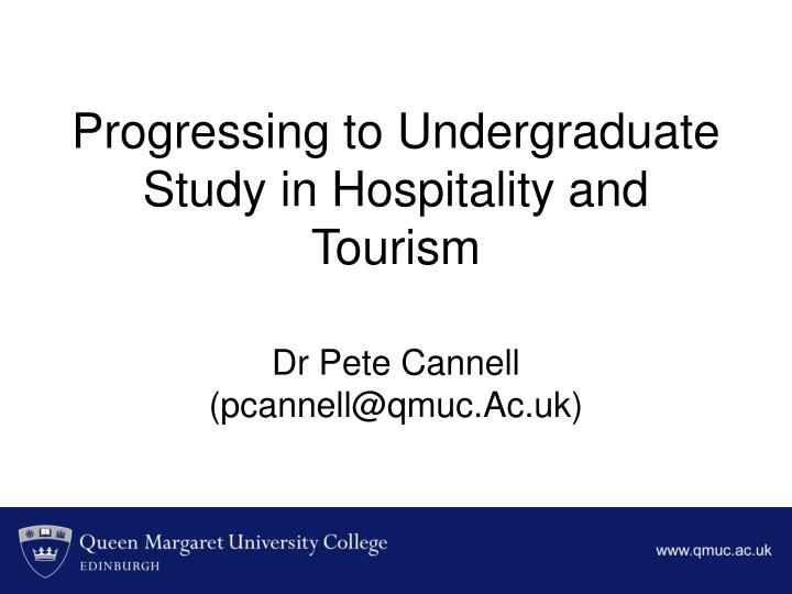 progressing to undergraduate study in hospitality and tourism n.