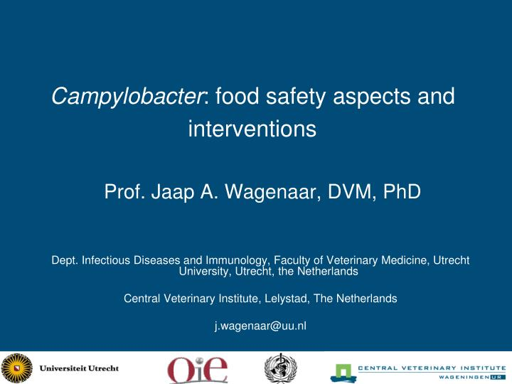 campylobacter food safety aspects and interventions n.