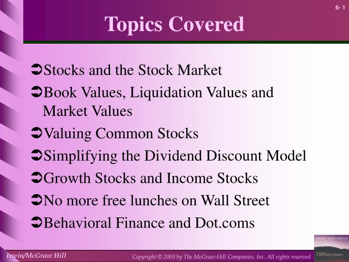 book value liquidation value and market value of shares essay