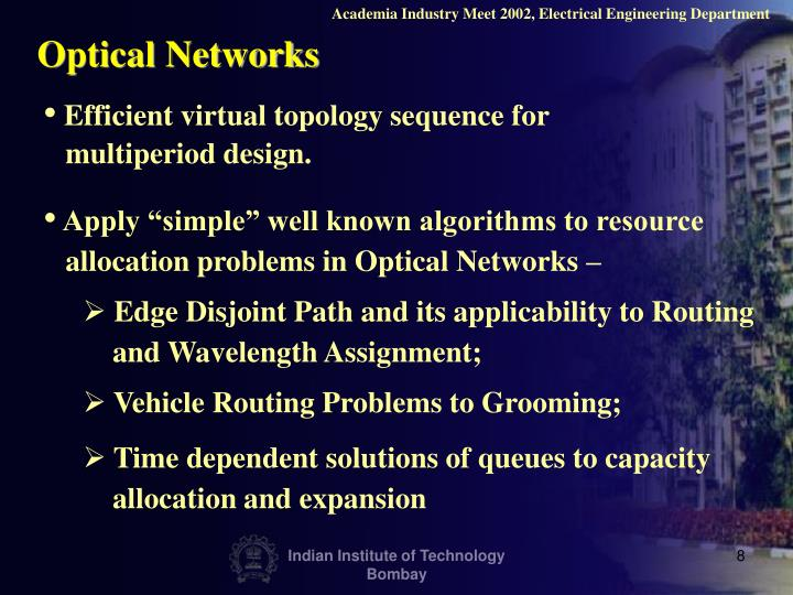Academia Industry Meet 2002, Electrical Engineering Department