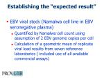 establishing the expected result1