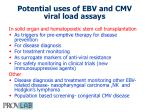 potential uses of ebv and cmv viral load assays
