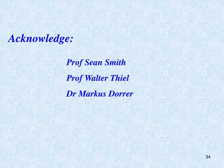 Acknowledge: