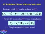3 5 embedded cluster model for ionic solid