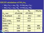 b3lyp calculations of no 2 au 2