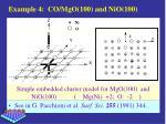 example 4 co mgo 100 and nio 100