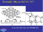 example nh 3 on si 111 7x7