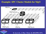 example spc cluster models for mgo