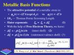 metallic basis functions