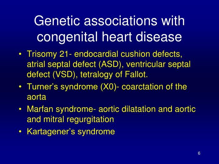 Genetic associations with congenital heart disease