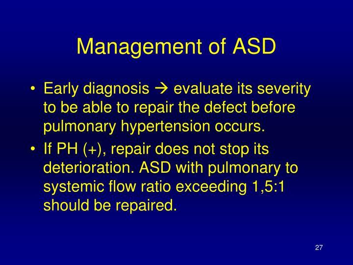 Management of ASD