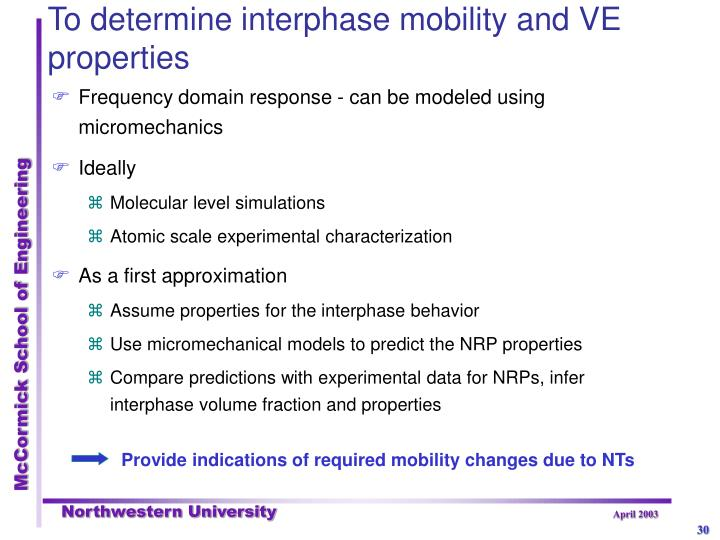 Provide indications of required mobility changes due to NTs