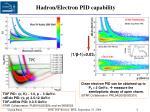 hadron electron pid capability