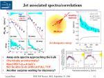 jet associated spectra correlations