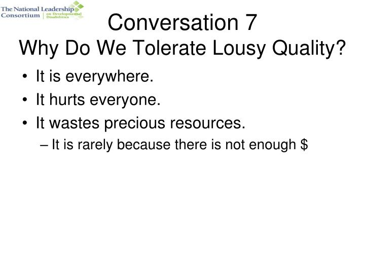 Conversation 7