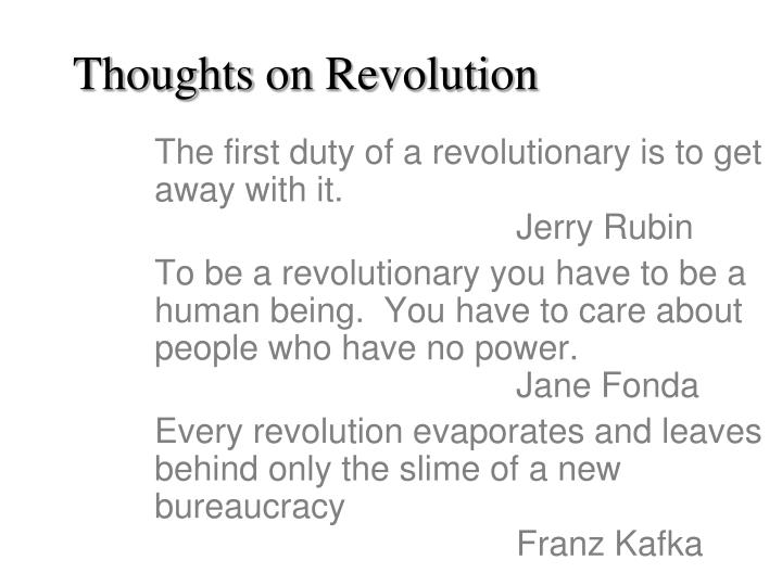 Thoughts on Revolution