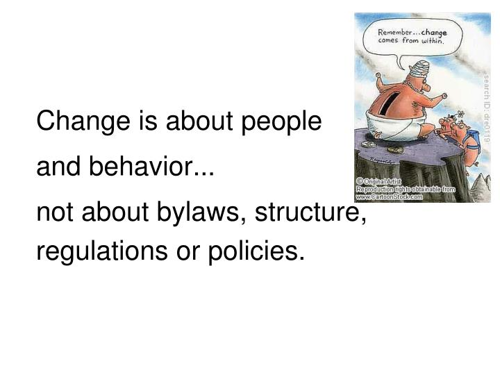 Change is about people