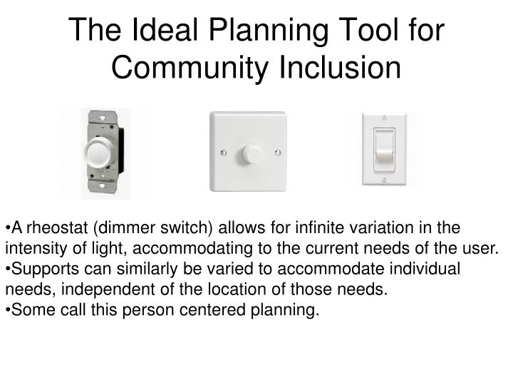 The Ideal Planning Tool for Community Inclusion