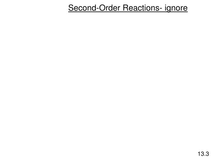 Second-Order Reactions- ignore