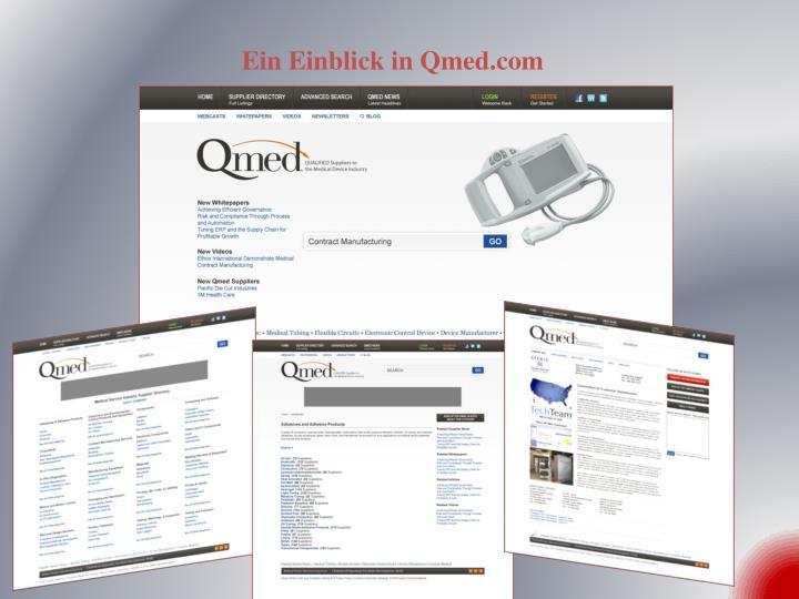Ein Einblick in Qmed.com