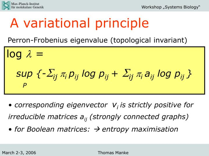 A variational principle