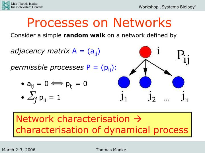 Processes on Networks