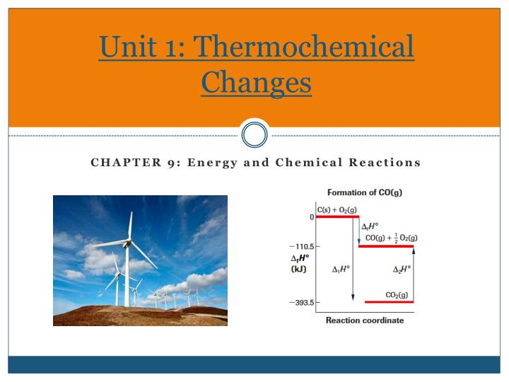 unit 1 thermochemical changes n.