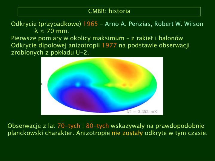 CMBR: historia