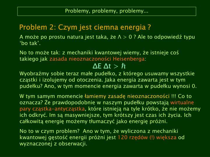 Problemy, problemy, problemy...